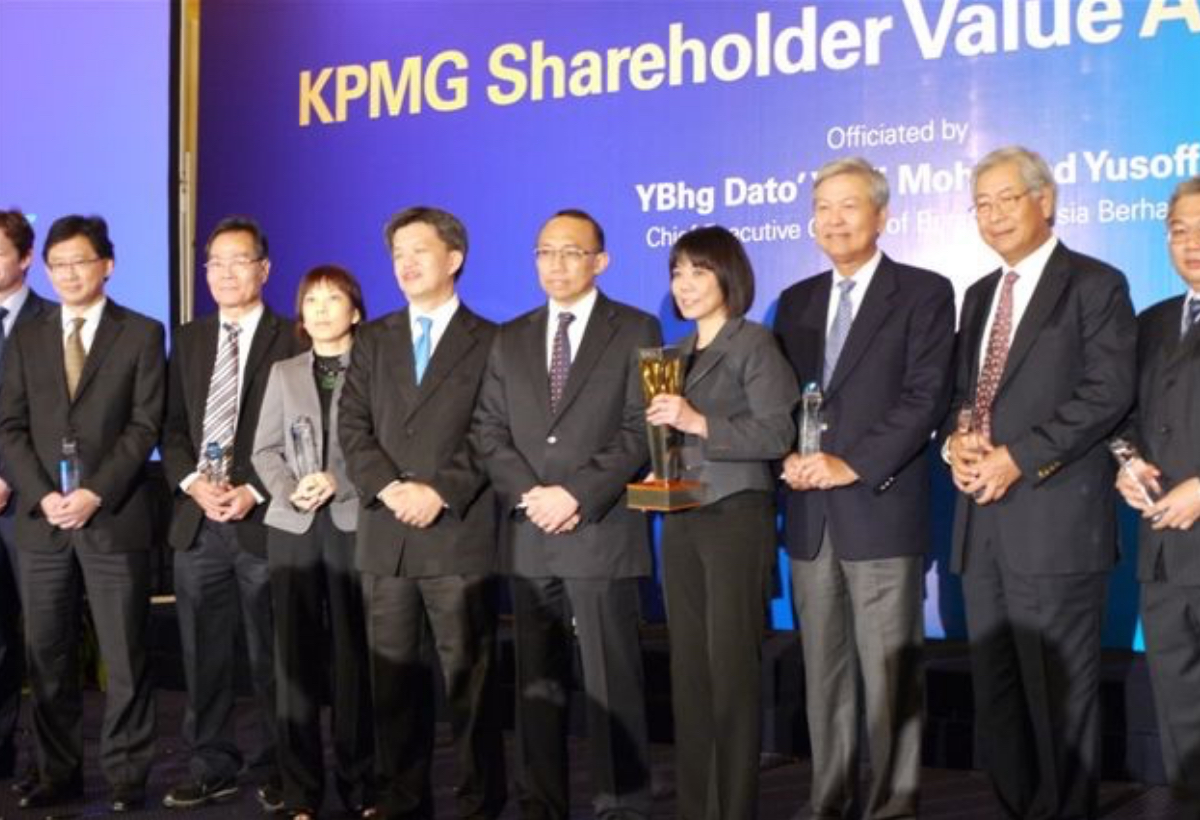 KPMG Shareholder Value Award – Industrial Markets' Best <br> by KPMG