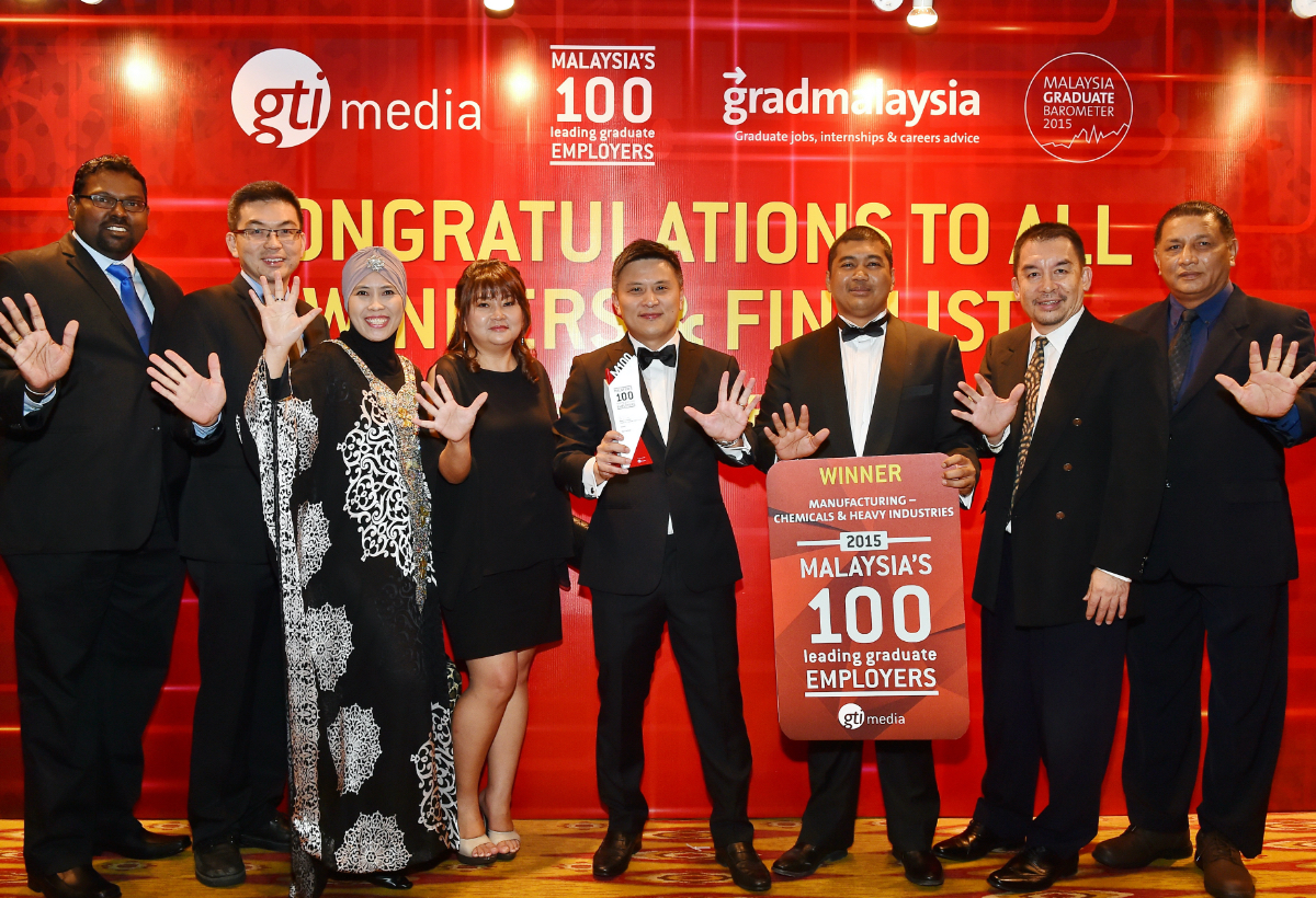 Malaysia's 100 Leading Graduate Employer Award <br> by GTI Media