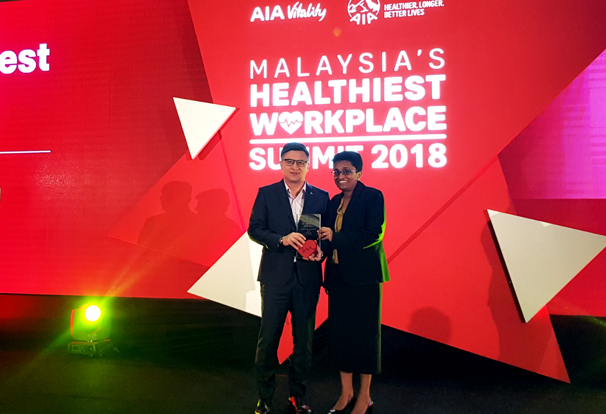 Malaysia's Healthiest Employees Award – Large Organisation Category <br> by AIA Vitality