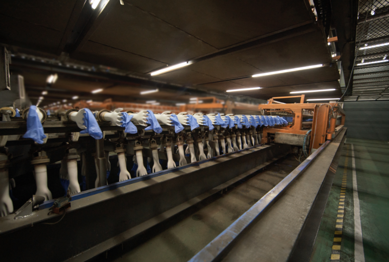 Automated glove stripping system